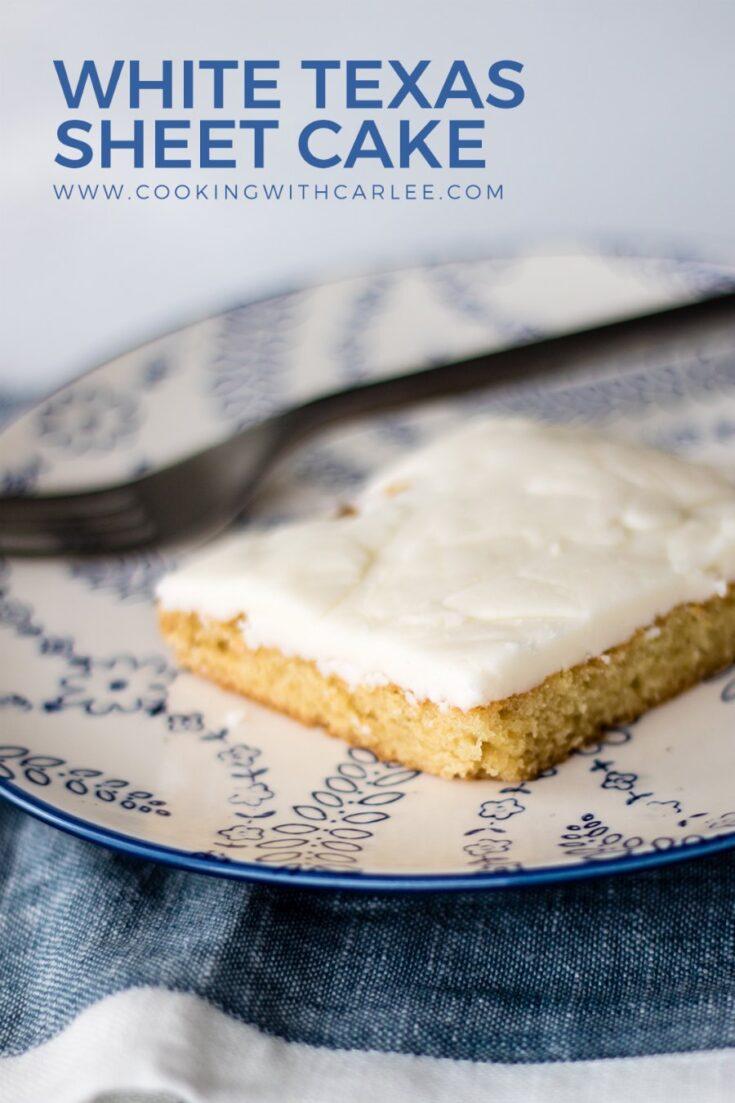 white sheet cake pinnable