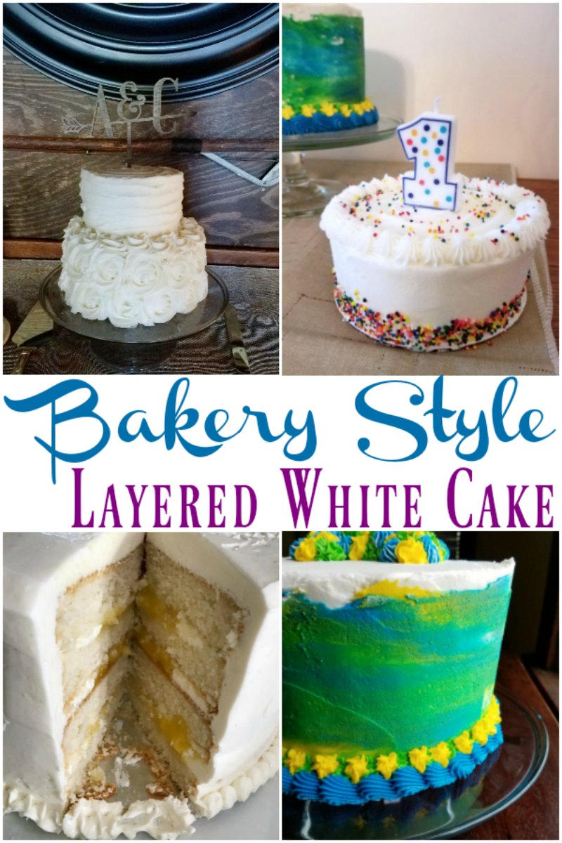 A perfect white cake is hard to beat. Whether you are looking for a wedding cake, birthday cake or just because cake, this is a perfect cake for stacking tall. It is moist, has great texture and can stand up to multiple layers.