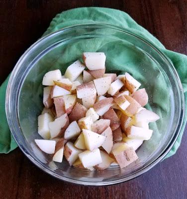 bowl of potato chunks