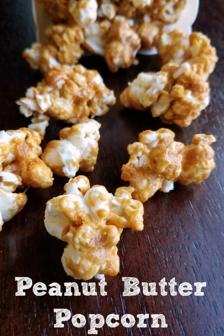 Crunchy peanut butter popcorn with that perfect sweet and salty balance. This popcorn is so fun to snack on!