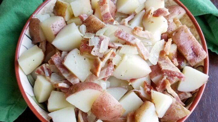 potatoes with bacon and onion vinaigrette