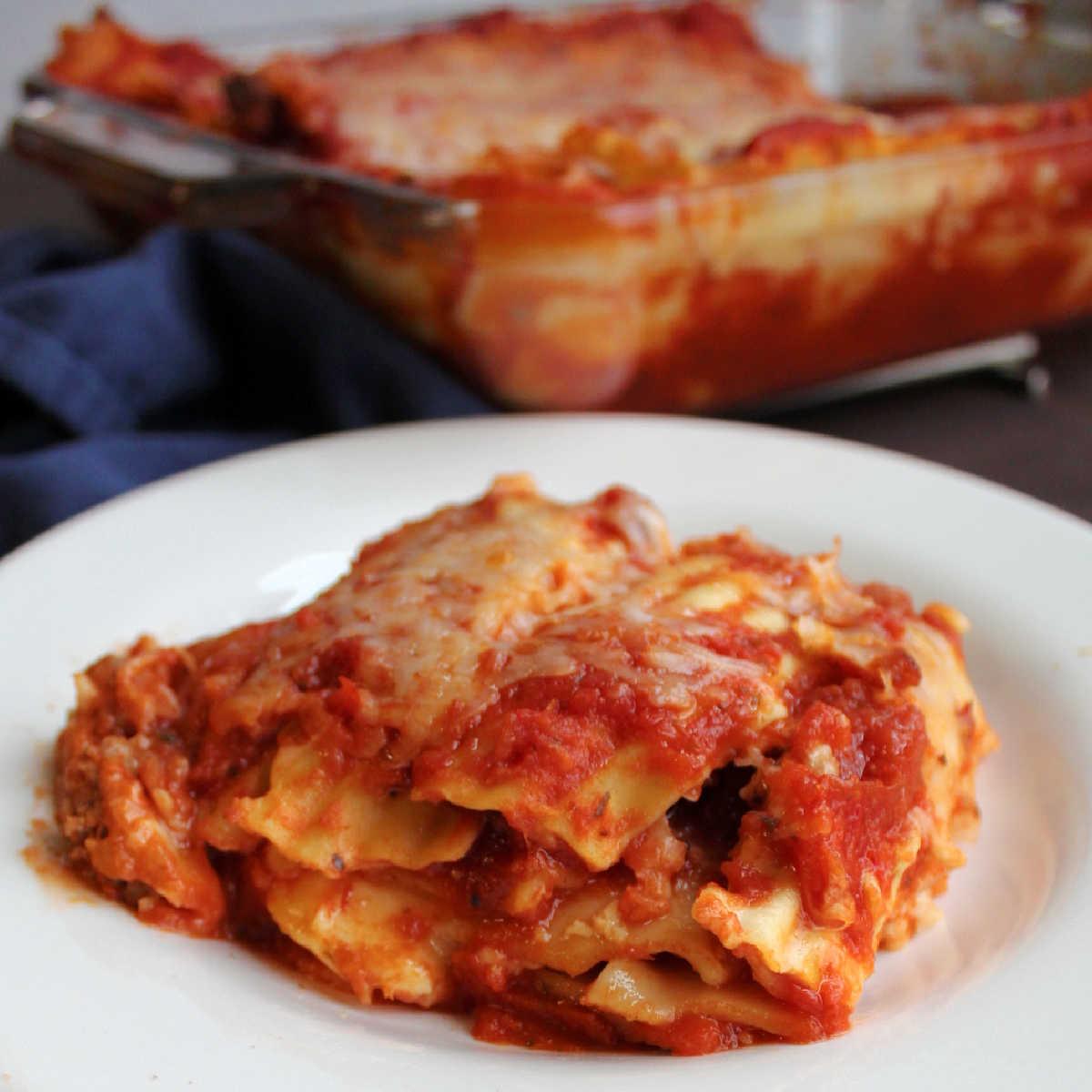 close piece of velveeta lasagna