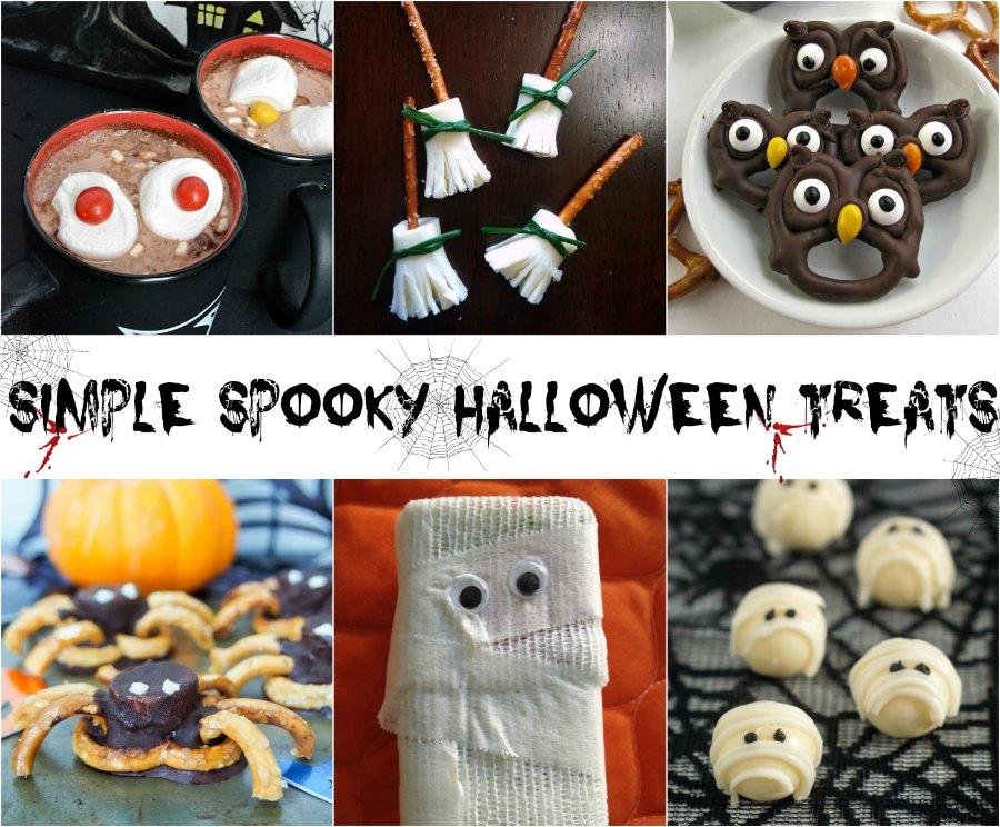 collage of fun halloween treats