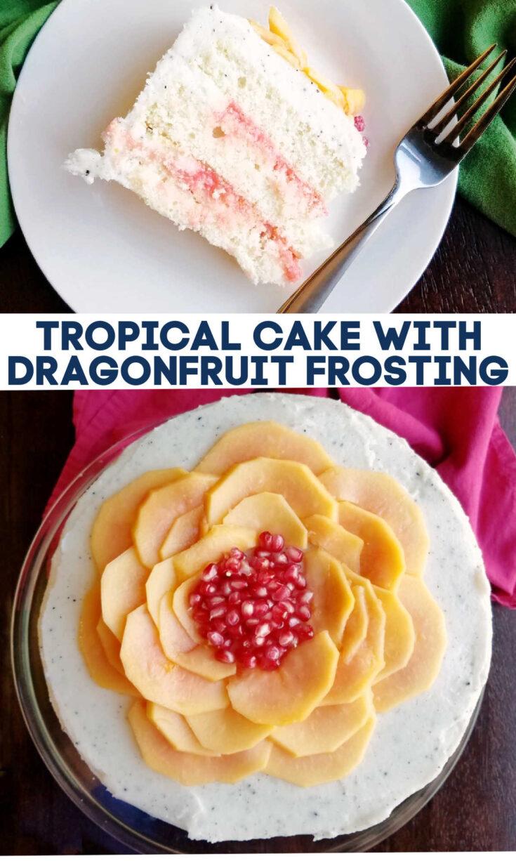 tropical cake dragonfruit frosting