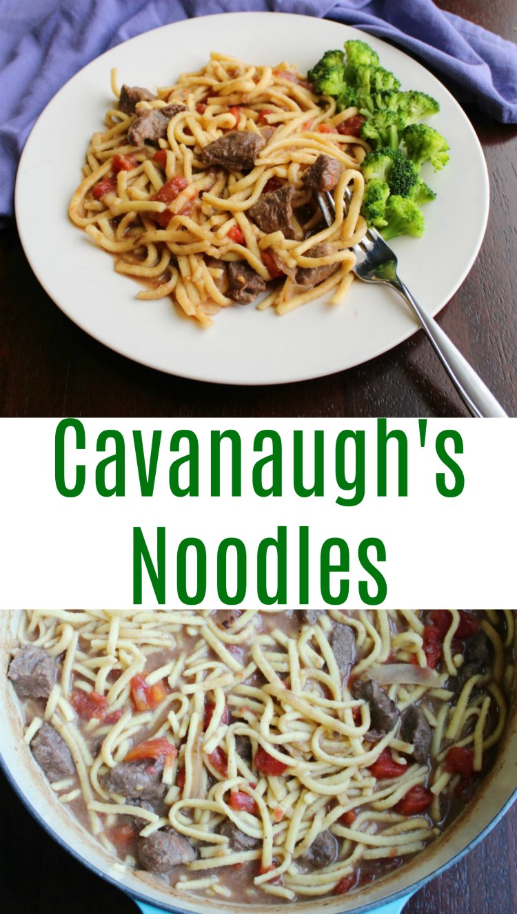 Are you looking for a new dinner recipe to feed you family? Look no further! Get your dutch oven out and stew some beef in a simple gravy and throw in some egg noodles. It will fill them up and have them coming back for more!
