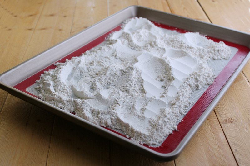 flour baked to make it safe for edible cookie dough.