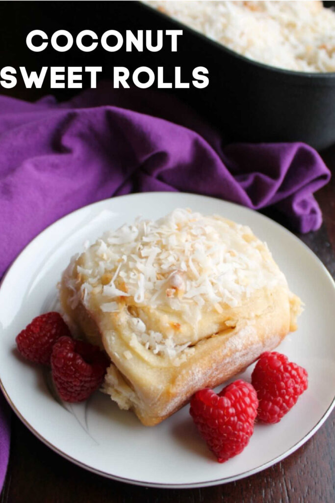 Sweet coconut goodness in a cinnamon roll-like package. These sweet rolls are loaded with coconut and are the perfect breakfast or brunch treat for Easter or any day!