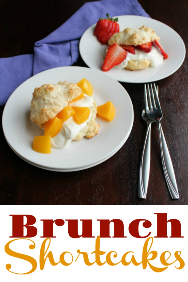 Shortcakes made with easy to make yogurt drop biscuits and filled with fruit and vanilla yogurt are perfect for brunch or a lighter dessert treat.