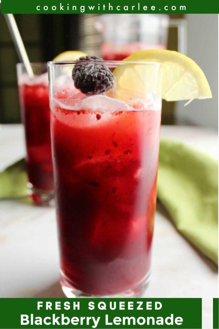 fresh squeezed blackberry lemonade