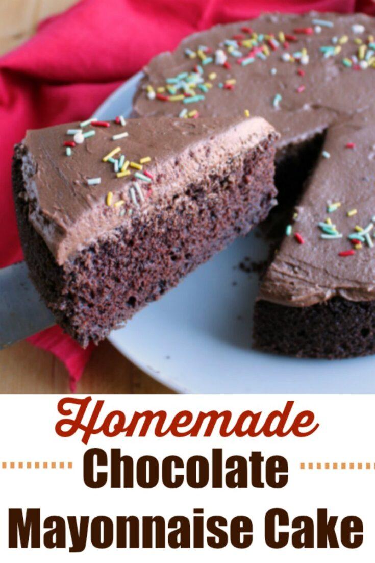 homemade chocolate mayo cake