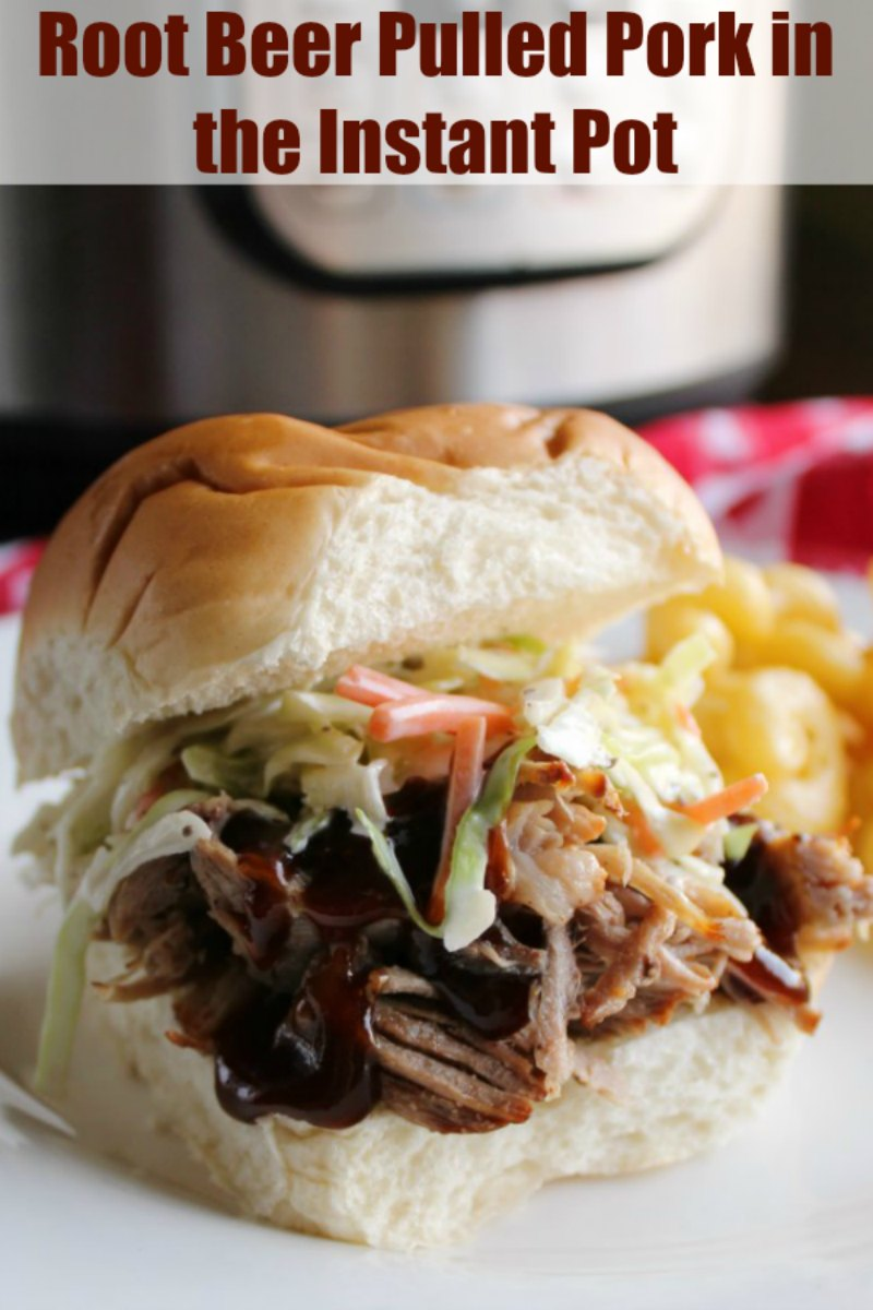 Succulent and flavorful pulled pork doesn't have to take all day! This root beer braised pork is made quick and easy in the instant pot.