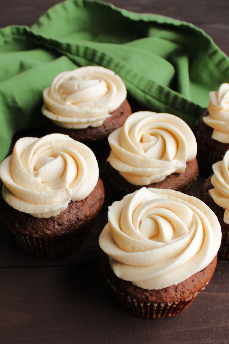Top your favorite treats with this easy to make caramel buttercream. Just imagine all of the cakes, cupcakes and cookies it could go on!