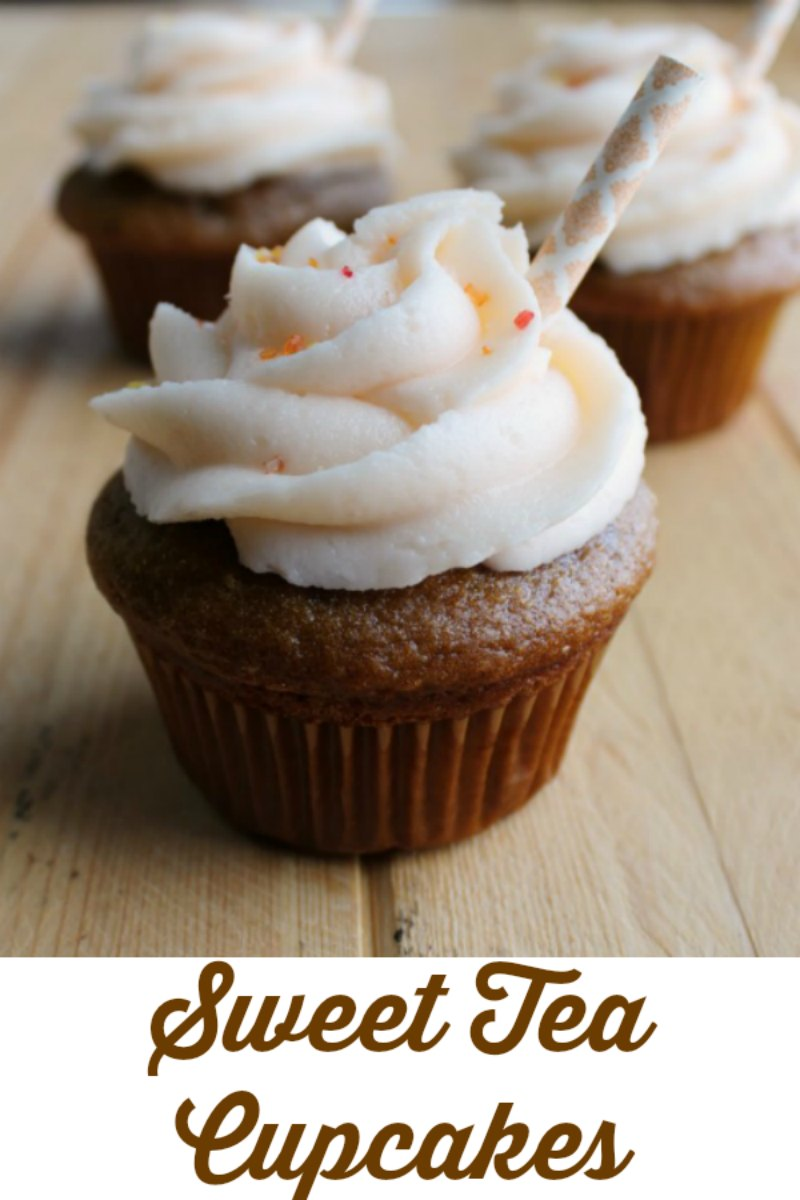 Sweet tea is a hot weather staple for a lot of folks, but now you don't have to have a glass and ice to enjoy it. Instead you can eat your tea in cupcake form! They are the perfect way to cap off a summer party and would be perfect for a BBQ!