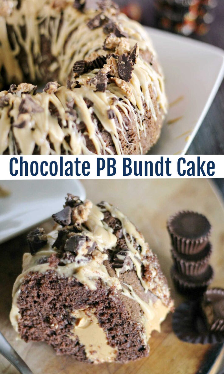 chocolate pb bundt cake
