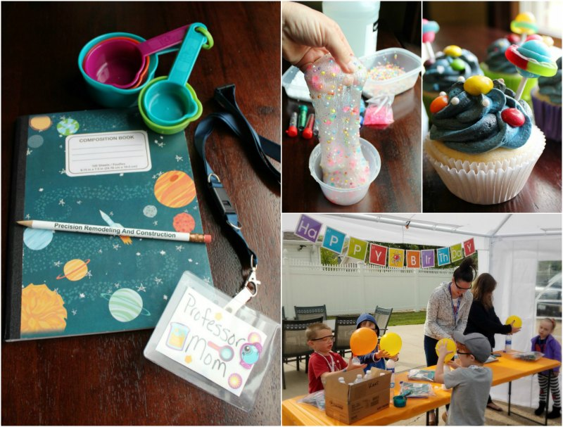 A look at our DIY science birthday party. It was a fun party for preschoolers and elementary aged kids with fun experiments and lots of laughs!