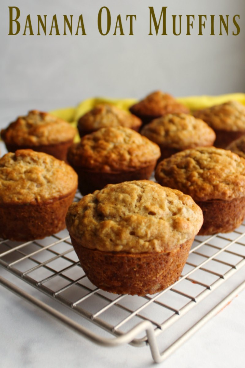Whether you are looking for a grab and go breakfast or something for a leisurely weekend brunch, these banana oat muffins are perfect!