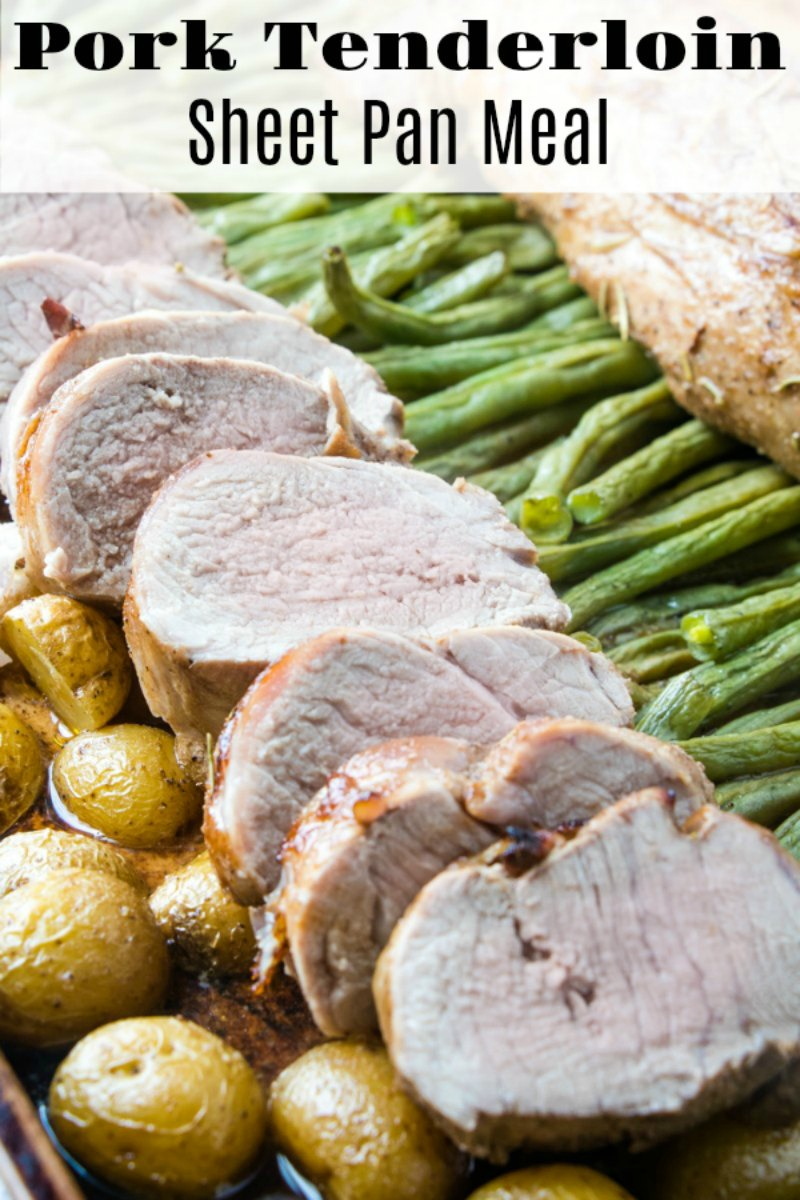 Moist and flavorful pork tenderloin cooked right along with fresh green beans and potatoes. It's a perfect sheet pan dinner that will have your whole family asking for more!