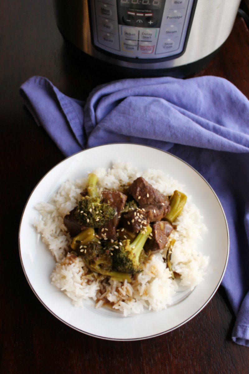 Make a take out inspired dinner in your slow cooker or instant pot. We love making this with venison backstrap, but but beef works well too!