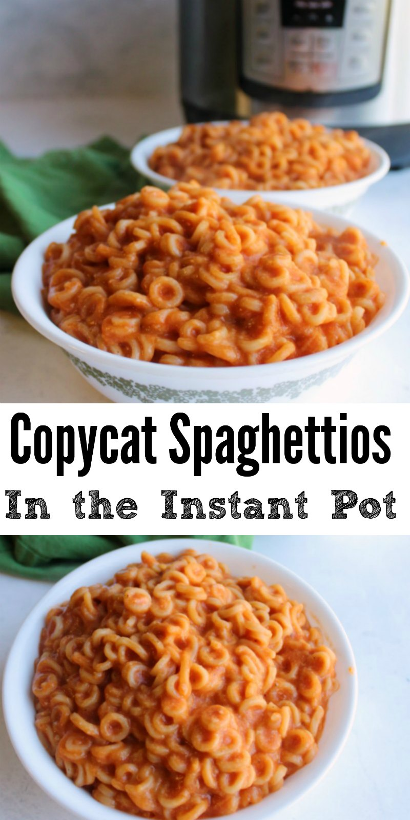 Make homemade Spaghettios in your instant pot. This easy meal will make you relive your childhood in the tastiest kind of way!