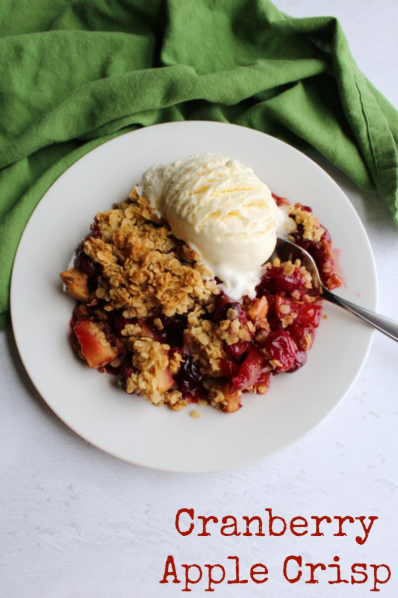 Everything about this delicious cranberry apple crisp screams fall. It is the perfect not too sweet dessert that brings together two of autumn's most iconic fruits. Of course the oatmeal crisp topping makes it amazing. You are to want to make it over and over all fall long.