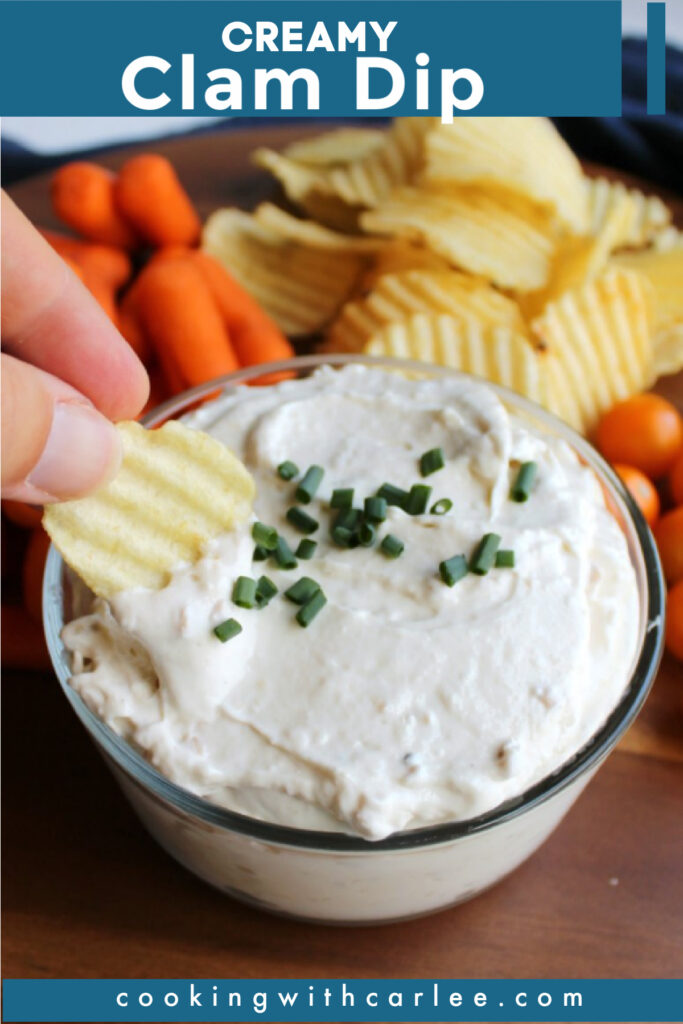 This creamy clam dip is a perfect party appetizer. It comes together quickly and is a perfect make ahead snack.