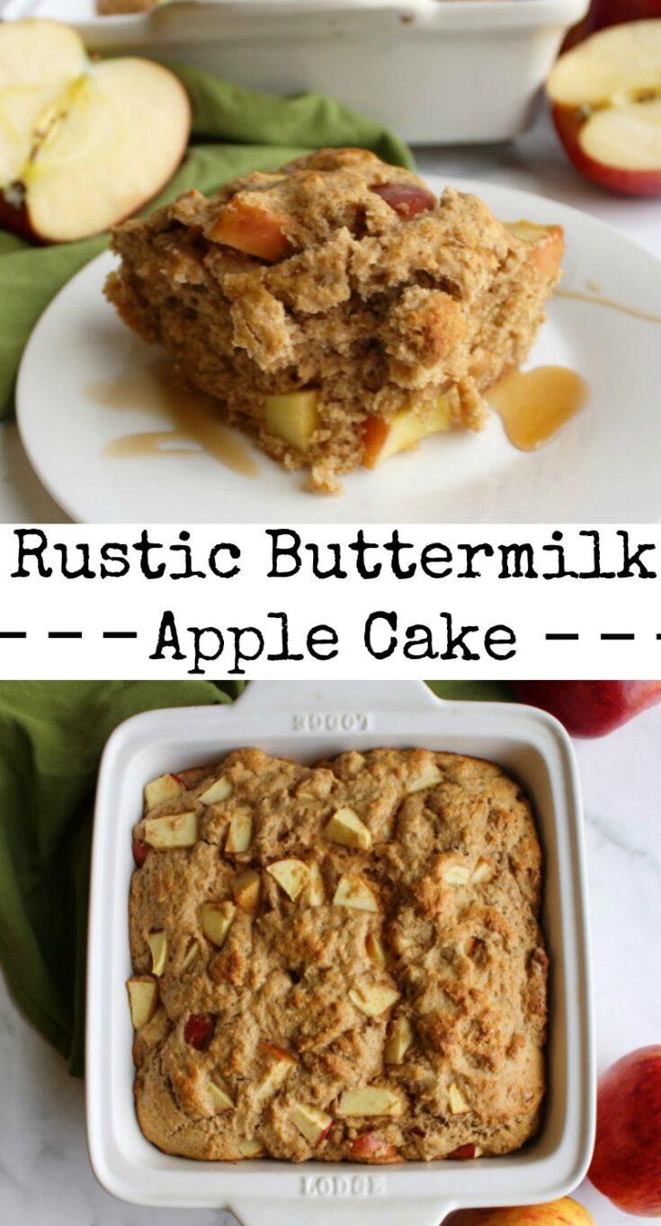 rustic2Bbuttermilk2Bapple2Bcake