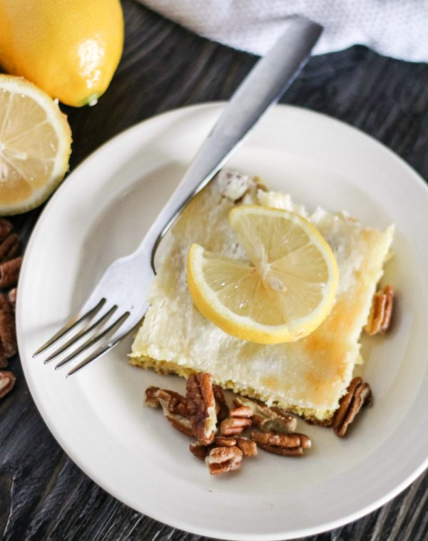 cream cheese and lemon cake bar