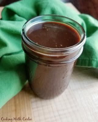 jar of hot fudge sauce
