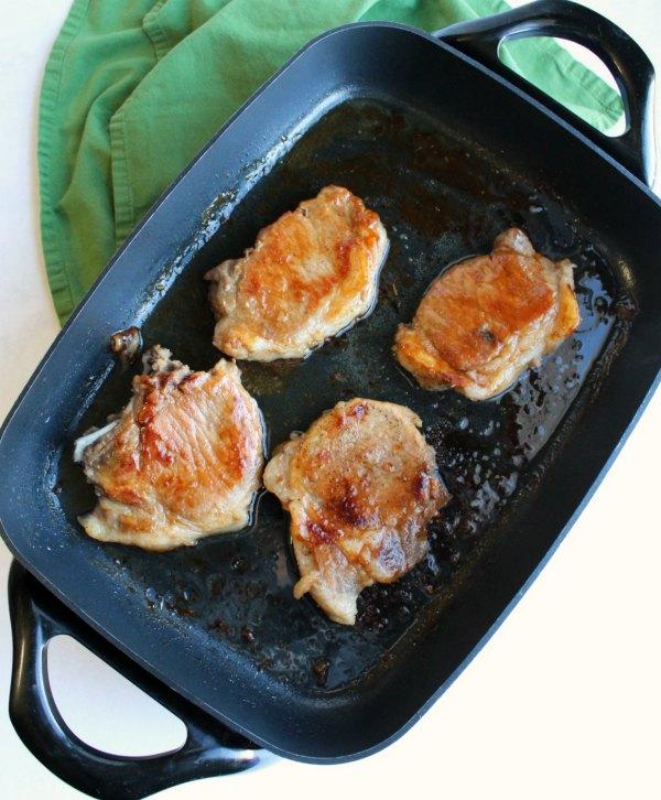 braised pork chops in electric skillet
