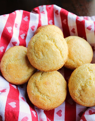 basket of homemade corn muffins ready to eat