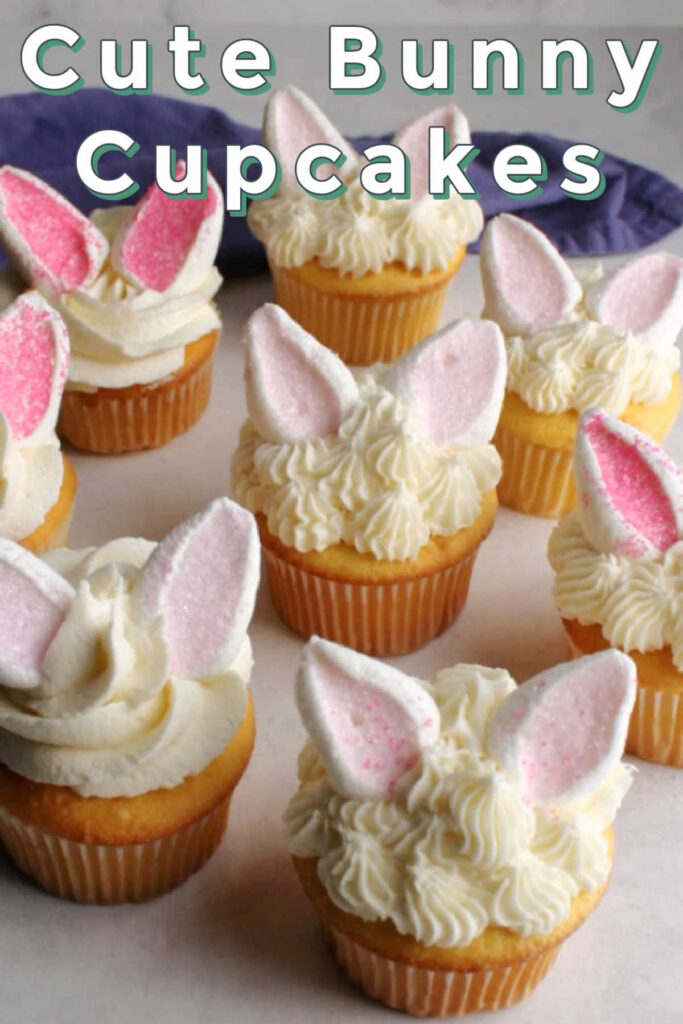 If you are looking for a cute and fun way to decorate cupcakes, you have come to the right place. These bunnies are so simple to make too, so you don't have to worry if you don't have expert level decorating skills. They are perfect for Easter, baby showers or even birthday parties so whip some up the next chance you get!