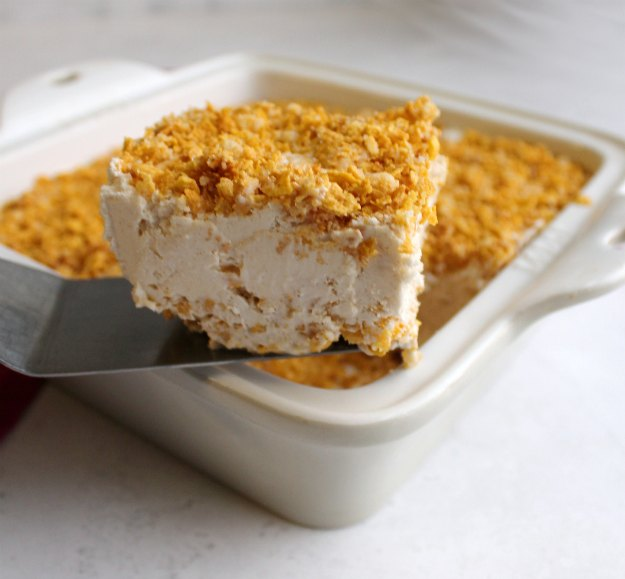 fried ice cream bars with crunchy cornflake topping and crust