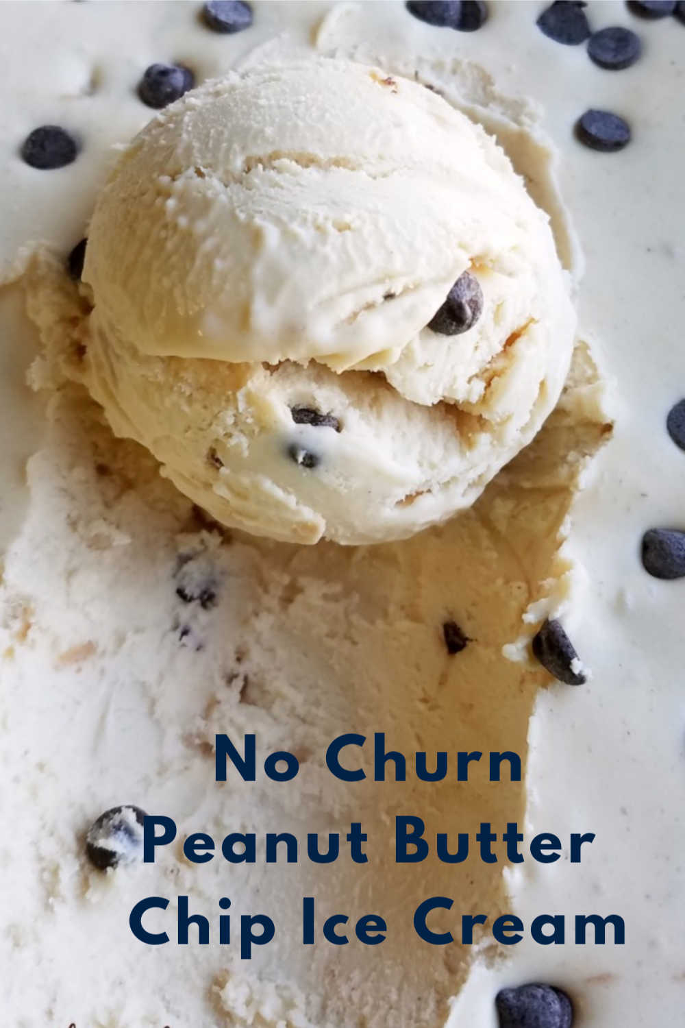 Smooth, creamy and oh so good! This no-churn ice cream is exploding with peanut butter flavor and is dotted with chocolate chips. It is almost too easy!