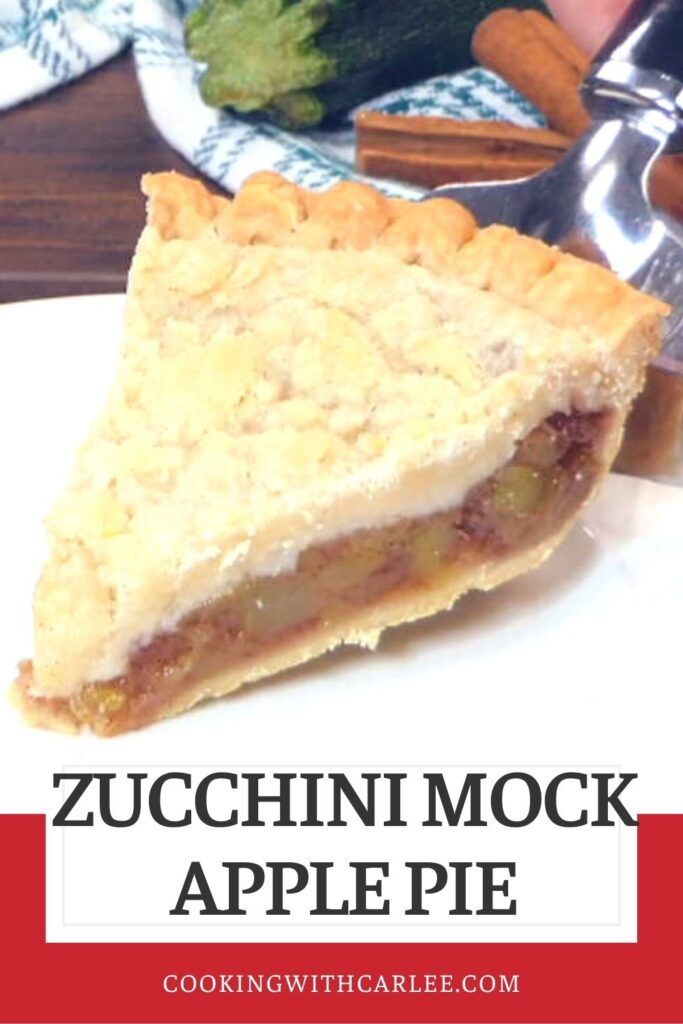 This apple pie has a secret, there isn't a single apple in it! Nope, it uses a summer vegetable instead. That's right, it's actually zucchini in there. But I promise you it tastes like apple.