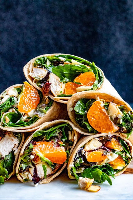 These delicious and Healthy Chicken Wraps are super simple to prepare and ready in only 20 minutes! Bonus, these wraps save great and are perfect for school week lunches.