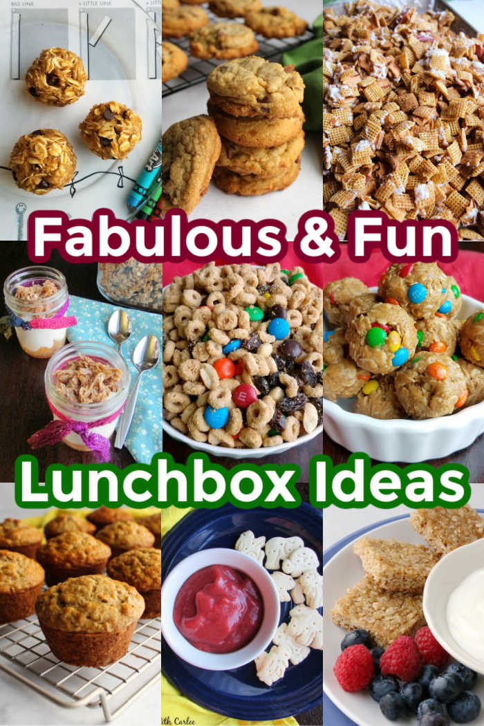 collage of lunchbox treats
