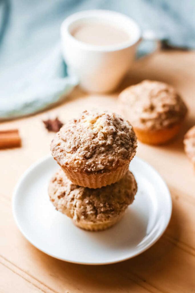 pumpkin muffins ready to eat.