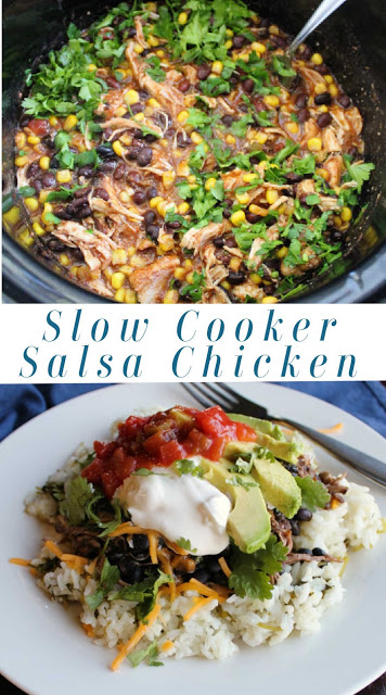 Everybody needs a couple of really simple to make really big on flavor recipes in their box of tricks.  This is a simple dump and go slow cooker recipe that results in a delicious dinner. Come home, make some rice and you have burrito bowls in no time! You could also use tortillas to make fun tacos or burritos!
