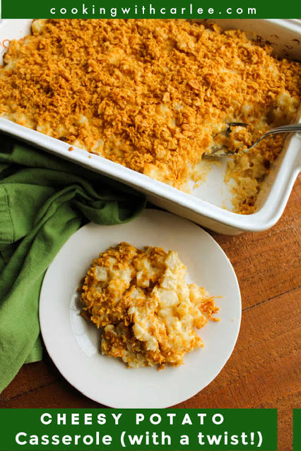 If you love a good creamy cheesy potato casserole, you have to try this recipe's twist. It's likely to be the best funeral potatoes you've ever had!