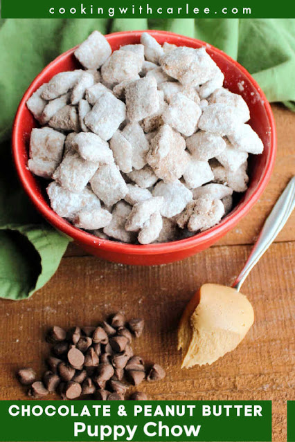 The puppy chow recipe that started it all. This favorite snack has the perfect combination of peanut butter and chocolate with a bit of crunch and leaves you fun powdered sugar fingers just waiting to be licked. We have to have a batch every Christmas, but love it all year long.
