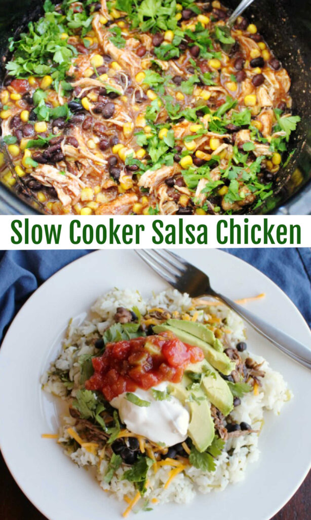 Make a delicious Mexican inspired meal while you do other things. This salsa chicken is so full of flavor and makes the best burrito bowls. Dinner is served.