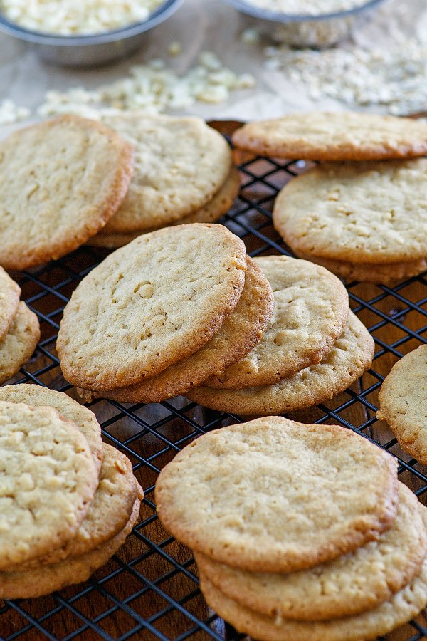 golden buttery cuppa cookies made with a cup of several different things ready to be eaten