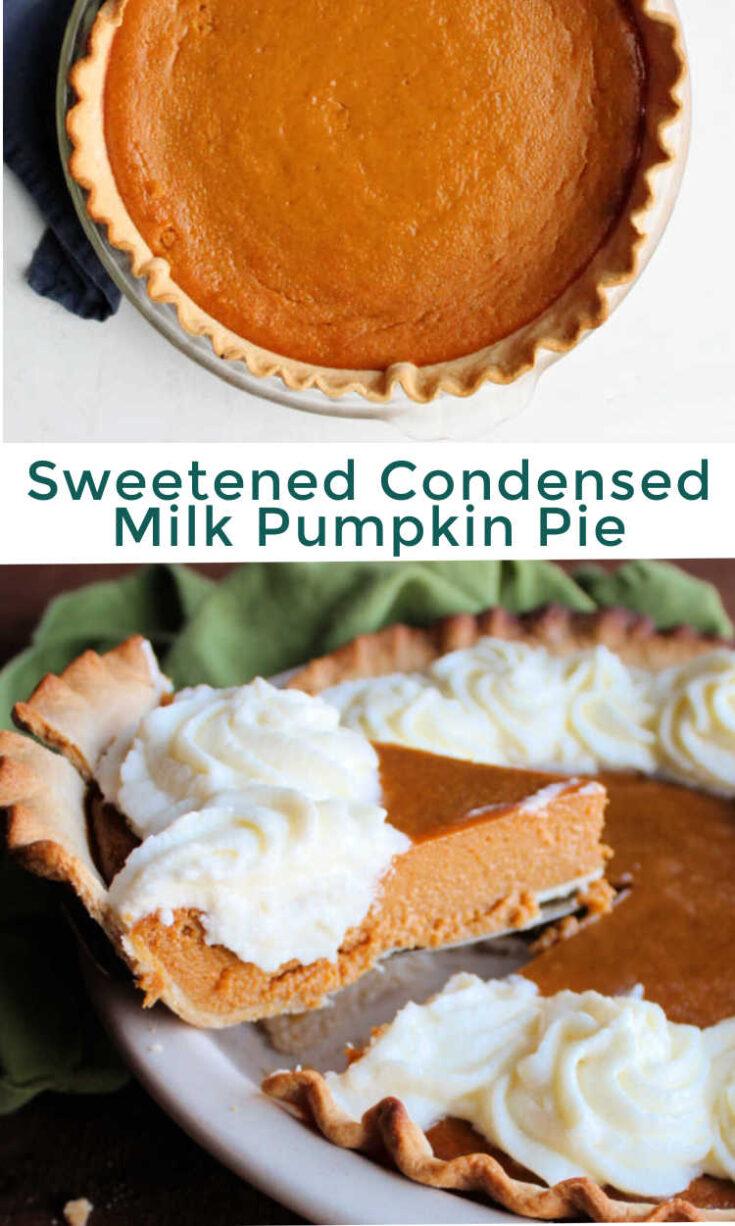 sweetened condensed milk pumpkin pie pin
