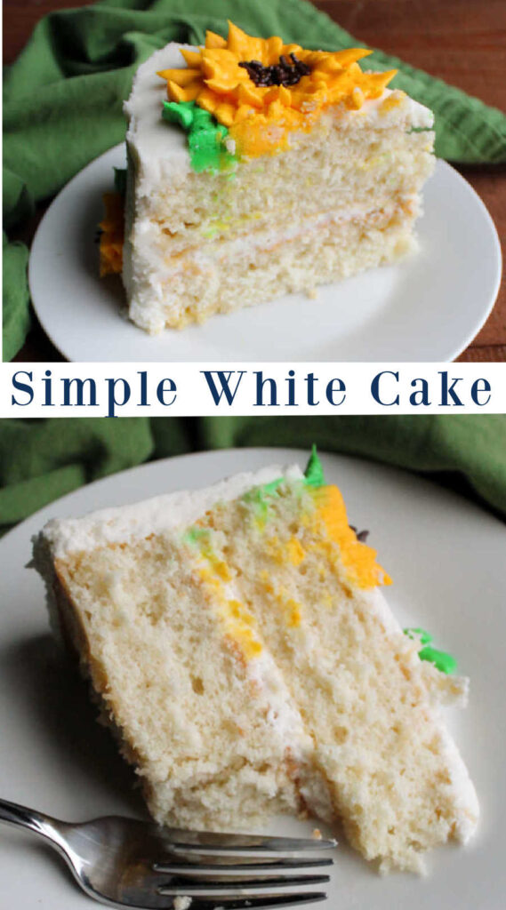 This recipe makes whipping up a tender white cake from scratch super easy.  It is perfect for birthdays and celebrations!