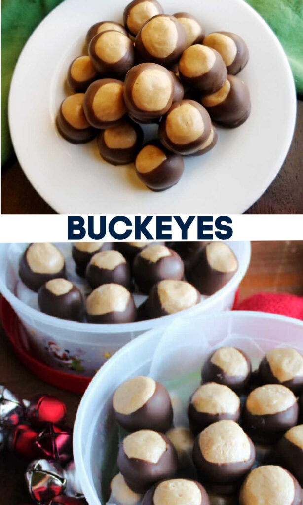 Turn that classic combination of peanut butter and chocolate into a great no-bake candy. These buckeyes look like the nut, but taste much better!