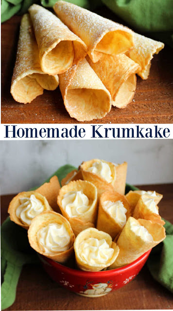 collage of krumkake images