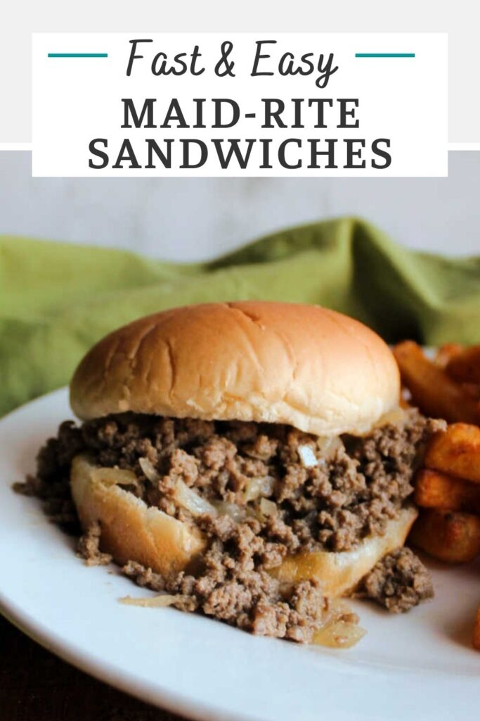 Maid-rites, tavern burgers or loose meat sandwiches, are a super quick and easy dinner that your family is sure to love! This easy maid rite recipe is a staple around here and for good reason!