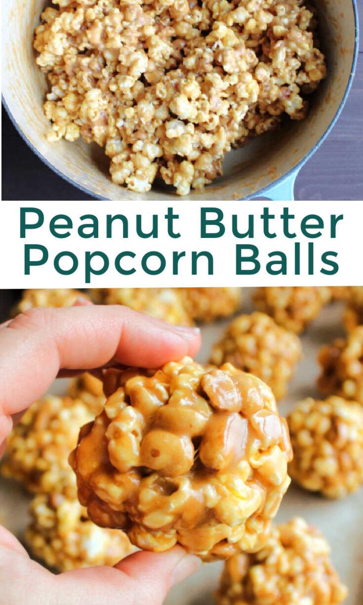 peanut butter popcorn balls pin