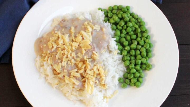tuna casserole on rice