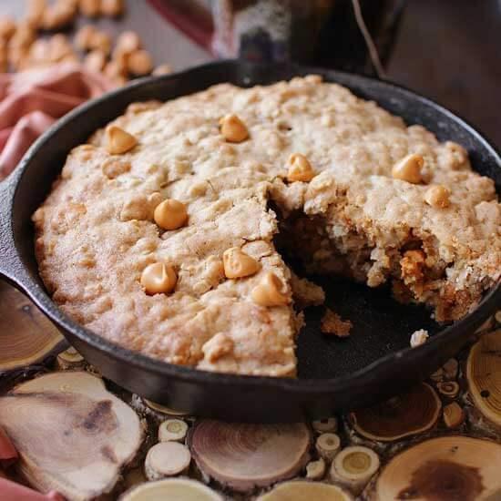 oatmeal butterscotch sklillet cookie social 1